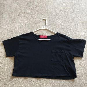 Akira chicago black crop top T-shirt